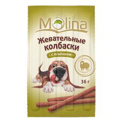 Жевательные колбаски для собак Molina «С ягненком»