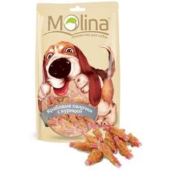 Molina Крабовые палочки с курицей, 80 гр.