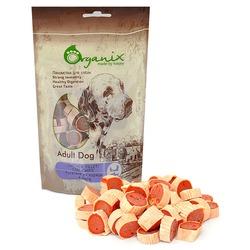 Organix Лакомство для собак «Рулетики из курицы и рыбы» (100% мясо) (Chicken fillet/ cod chips) 100гр