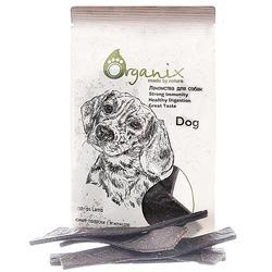 """Organix """"Мясные полоски"""" с ягненком, Meatstrips Lamb , лакомство для собак, 100 гр."""