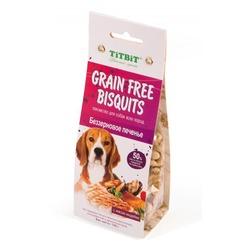 TiTBit Печенье Grain Free беззерновое с мясом индейки, 100 гр.