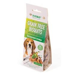 TiTBit Печенье Grain Free беззерновое с мясом ягненка, 100 гр.