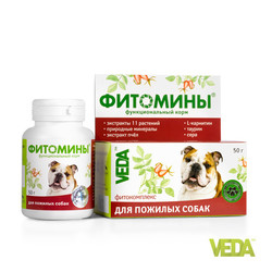 Веда ФИТОМИНЫ® для пожилых собак, 100 шт.