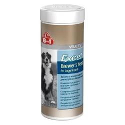 8 in 1 Brewers Yeast витамины с пивными дрожжами для собак крупных пород, 80 табл.
