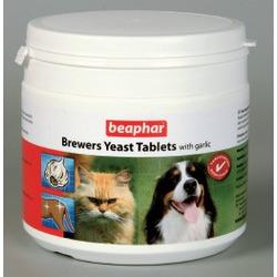 Beaphar пивные дрожжи с чесноком Brewers Yeast Tablets With Garlic, 250 табл.