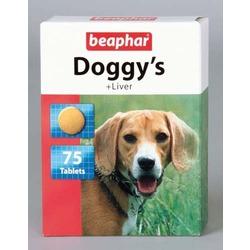 Beaphar Doggy's + Liver Витаминизированное лакомство со вкусом печени, 75 табл.