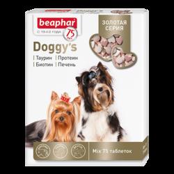 Beaphar Золотая линейка витамины д/собак смесь «Doggy`s MIX», 75 т.