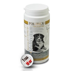 Polidex Multivitum plus Мультивитум плюс ( 1 табл. на 10 кг), 300 табл.