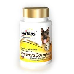 Unitabs Brewers complex витамины с пивными дрожжами для собак крупных пород, 100 табл.