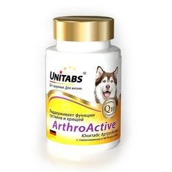 Unitabs ArthroActive с глюкозамином при заболеваниях суставов у собак, 100 табл.