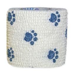 Andover бандаж PetFlex, голубые лапки на белом