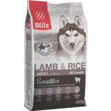 Blitz сухой корм для взрослых собак всех пород с ягнёнком и рисом Blitz Sensitive Lamb & Rice Adult Dog All Breeds
