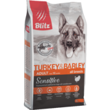 Blitz сухой корм для взрослых собак всех пород с индейкой и ячменем BLitz Sensitive Turkey & Barley Adult Dog All Breeds