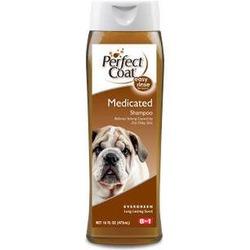 Perfect Coat Лечебный, дегтярный шампунь от перхоти и зуда Medicated Shampoo, 473 мл.