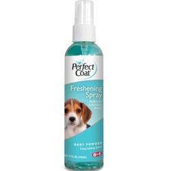 Perfect Coat освежающий спрей для собак с ароматом детской присыпки Freshening Spray Baby Powder, 118 мл.