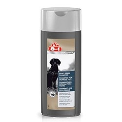 8in1 Black Pearl Shampoo & Conditioner, шампунь-кондиционер оттеночный для собак с темной шерстью,250 мл