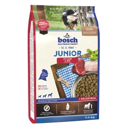 Bosch Junior ягненок с рисом, для щенков всех пород с чувствительным пищеварением