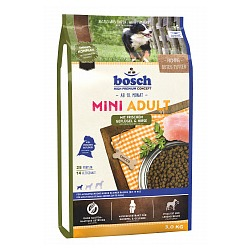 Bosch Mini Adult Poultry&Millet, сухой корм для собак мелких пород, птица и просо