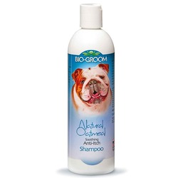 Bio-Groom Natural Oatmeal Shampoo успокаивающий овсяный шампунь против зуда и раздражений, 355 мл