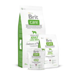 Brit Care Grain-free Adult Large Breed Salmon & Potato for dog беззерновой корм для собак крупных пород лосось с картофелем