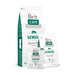 Brit Care Senior All Breed Lamb & Rice, сухой корм для пожилых собак всех пород ягненок и рис