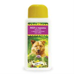 Pchelodar шампунь гигиенический для собак с мёдом и лопухом (250 мл), арт. 63290