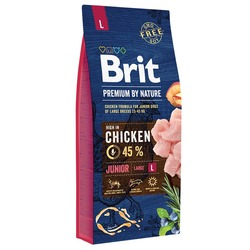 Brit Premium by Nature Junior L полнорационный корм для щенков и молодых собак крупных пород (25–45 кг)