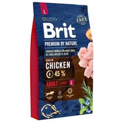 Brit Premium by Nature Adult Пполнорационный корм для взрослых собак крупных пород (25–45 кг).