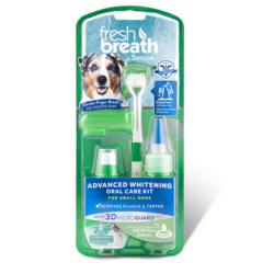 Tropiclean Набор для ухода за зубами собак средних и крупных пород «Свежее дыхание» отбеливающий