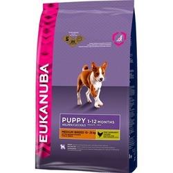 Eukanuba Puppy&Junior medium breed cухой корм Эукануба для щенков средних пород в возрасте от 1 до 12 месяцев с Курицей