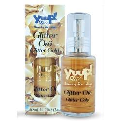 "YuuP! Fashion Спрей со сладким ароматом и блестками ""Золото"" для сияния шерсти, Fashion Glitter Gold"