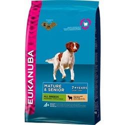 Eukanuba Mature & Senior Lamb & Rice для пожилых собак с ягненком и рисом.