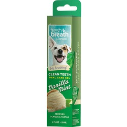 "Tropiclean ""Fresh Breath"" Гель для чистки зубов для собак с ванилью и мятой, 59 мл"
