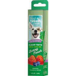 """Tropiclean """"Fresh Breath"""" Ягодный гель для чистки зубов для собак, 59 мл"""