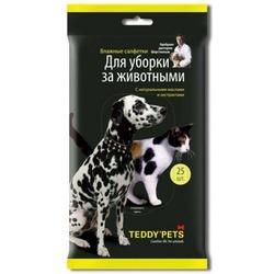 Teddy pets влажные салфетки для уборки за животными, 25 шт