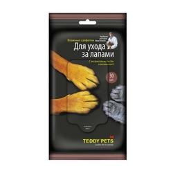 Teddy pets влажные салфетки для ухода за лапами, 30 шт
