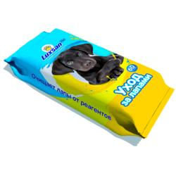 LUXSAN Pets влажные салфетки для ухода за лапами, 60 шт.