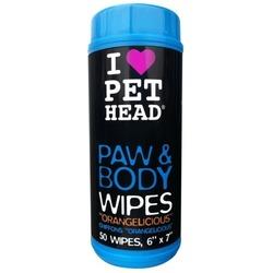 """Pet Head Салфетки гипоаллергенные """"Цитрусовый бум"""" для лап и тела, 50 шт"""