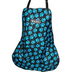 Wahl фартук грумера Logo Aprons Pocket, черный с голубыми лапками