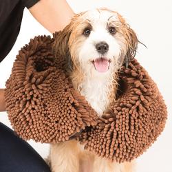 Dirty Dog Shammy полотенце из микрофибры 33х79 см, Dog Gone Smart, цвет коричневый