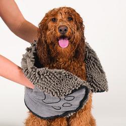 Dirty Dog Shammy полотенце из микрофибры 33х79 см, Dog Gone Smart, цвет серый