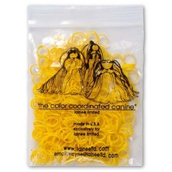 Lainee резинки для закрепления папильоток желтые