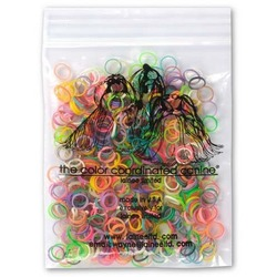 Lainee резинки для топ-кнотов латекс разноцветные размер М 1/4 уп ~250 шт
