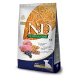 FARMINA N&D LG низкозерновой корм для щенков мелких и карликовых пород Ягненок с Черникой (N&D Low Grain Dog Lamb & Blueberry Puppy Mini)