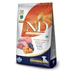 FARMINA N&D беззерновой корм для щенков мелких пород Ягненок с Черникой и Тыквой мини (N&D Dog GF Pumpkin Lamb & Blueberry Puppy Mini)
