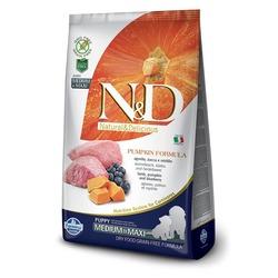FARMINA N&D беззерновой корм для щенков средних и крупных пород Ягненок с Черникой и Тыквой медиум и макси (N&D Dog GF Pumpkin Lamb & Blueberry Puppy Medium & Maxi)
