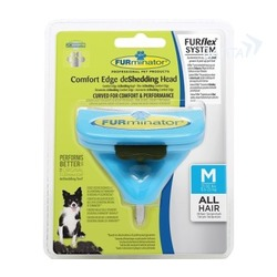 Furminator FURflex насадка-фурминатор против линьки M, для собак средних пород