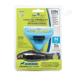 Furminator FURflex фурминатор-комбо против линьки M, для собак средних пород