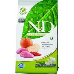 FARMINA N&D беззерновой корм для собак мелких пород Мясо дикого кабана с Яблоком мини (N&D Boar & Apple Adult)