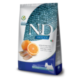 FARMINA N&D беззерновой корм для собак мелких пород Рыба с Апельсином мини (N&D Fish & Orange Adult)